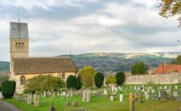 Alle Heilig-Kirche bei Selsley, nahe Stroud, Gloucestershire stockbilder