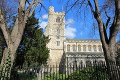 Alle Heilig-Kirche in Fulham, Bischöfe parken, Stadt von Hammersmith und Fulham, London, Großbritannien stockfotografie