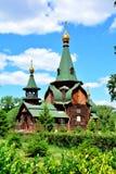 Alle Heilig-Kirche in Omsk, Sibirien, Russland lizenzfreies stockfoto