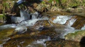 Alle Heilig-Wasserfälle auf Winter, Eis und Frost, BlackForest stock video