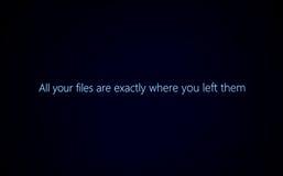 Alle Ihre Dateien sind genau, wo Sie sie ließen Lizenzfreies Stockbild