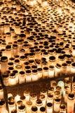 Alle kaarsen van de heiligendag Stock Foto