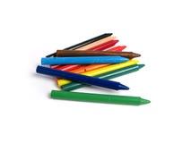 Alle kleurenkleurpotloden Stock Foto