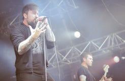 Alle Schweine müssen sterben Live- Konzert 2016, eingefleischte Punk-grindcore Band Stockfotos