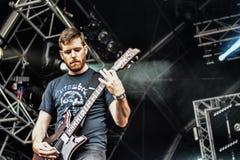 Alle Schweine müssen sterben Live- Konzert 2016, eingefleischte Punk-grindcore Band Lizenzfreies Stockfoto