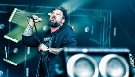 Alle Schweine müssen sterben Live- Konzert 2016, eingefleischte Punk-grindcore Band Lizenzfreie Stockfotos