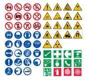 Alle Sicherheitszeichen Stockbilder