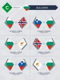 Alle spelen van Bulgarije in de liga van voetbalnaties vector illustratie