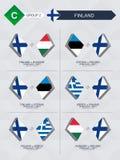 Alle spelen van Finland in de liga van voetbalnaties royalty-vrije illustratie