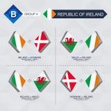 Alle spelen van Ierland in de liga van voetbalnaties royalty-vrije illustratie