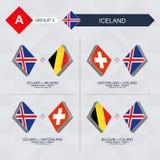 Alle spelen van IJsland in de liga van voetbalnaties royalty-vrije illustratie