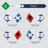 Alle spelen van Israël in de liga van voetbalnaties royalty-vrije illustratie