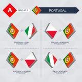 Alle spelen van Portugal in de liga van voetbalnaties royalty-vrije illustratie