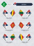 Alle spelen van Servië in de liga van voetbalnaties vector illustratie
