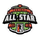 Alle Sterne des Fußballs, Logo, Emblem Stockfotografie
