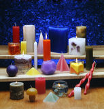 Alle Typen Kerzen Stockbild
