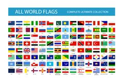 Alle Vectorvlaggen van het Wereldland Deel 2 royalty-vrije stock afbeelding