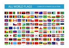 Alle Vektor-Weltlandesflaggen Teil 1 vektor abbildung