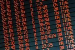 Alle vluchten vertrekt op tijd Stock Afbeeldingen