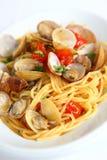 Alle Vongole de los espaguetis Fotografía de archivo libre de regalías