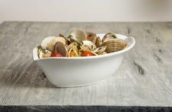 Alle Vongole de los espaguetis Fotos de archivo libres de regalías