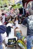 Alle vrouwen dansen uitvoerders in Callejon DE Hamel in Centro Havana stock afbeeldingen
