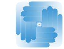 Alle Welt auf Ihren Händen Lizenzfreie Stockbilder