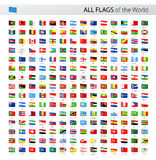Alle Welttag-Vektor-Flaggen - Sammlung Lizenzfreies Stockbild