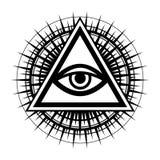 Alle-ziend Oog het Oog van Voorzienigheid vector illustratie