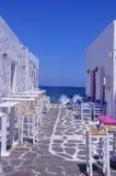 Alleato nel mare, Naoussa Fotografie Stock