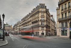 Allee de l ` Oper, Paris Stockfoto