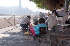 Allee der Sterne in Hong Kong Stockfotografie