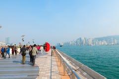 Allee der Sterne an Kowloon-Promenade, Hong Kong, China Lizenzfreie Stockfotos