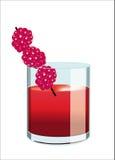 Allee des alkoholfreien Getränkes Himbeer lizenzfreie abbildung