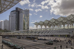 Allee gare tun oriente Lissabon, Portugal Lizenzfreie Stockfotos