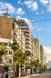 Allee Hassan II in Casablanca, Marokko lizenzfreies stockbild