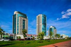 Allee Minsks, Weißrussland Dzerzhinsky stockfotografie
