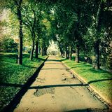 Allee Oslo Akershusfortress Royalty Free Stock Image