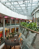 Allee shopping mall, Budapest. Interior view of the Allee shopping mall in the 11th district of Budapest, Hungary Stock Photos