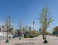 Allee street frankfurter in the new city district europaviertel Royalty Free Stock Photos