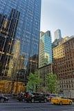 6. Allee und West55. Straße in Midtown Manhattan Lizenzfreies Stockbild