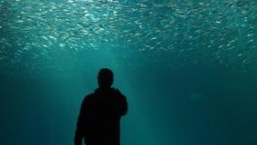 Alleen in de Oceaan royalty-vrije stock foto