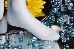 Alleen glas in een vertoning van het opslagvenster Stock Fotografie