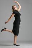 Alleen het dansen Stock Foto