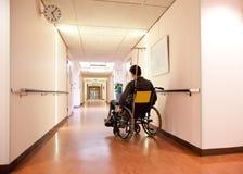Alleen in het ziekenhuis Stock Afbeeldingen