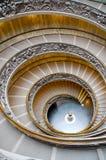 Alleen op de Spiraalvormige Gang van het Vatikaan Stock Fotografie