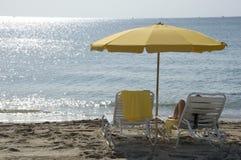 Alleen op het strand. Royalty-vrije Stock Afbeelding