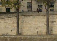 Alleen in Parijs Royalty-vrije Stock Foto
