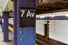7. Alleen-Station - New York City Lizenzfreie Stockfotos