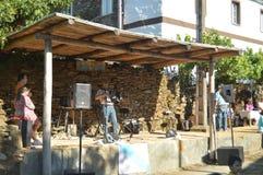 Alleen van Harmonika bij de Partij van de Doedelzak in Quinta De Cancelada stock foto's